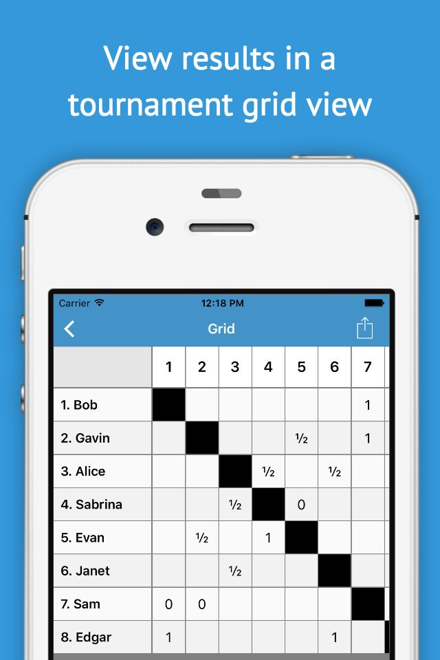 Round-Robin app for tournament management